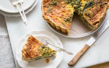 10-inch Spring Greens Quiche with Roasted Onions and Parmesan                  $40