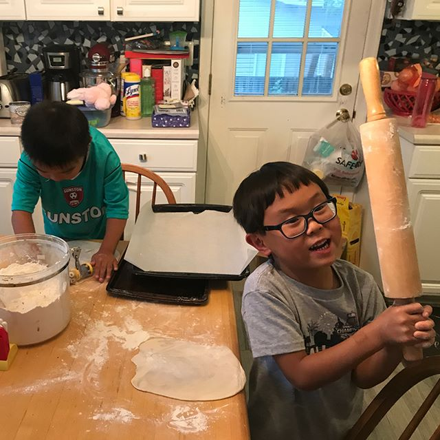 Friday night BFF pizza making party!  #photoaday2018