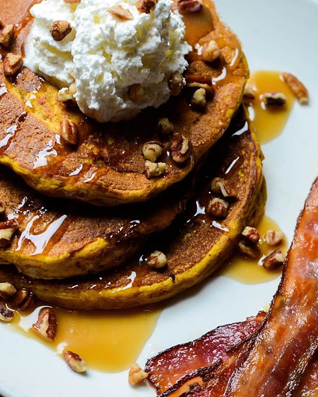 Get crazy! It's 🎃 🥞 time!  #foodieapolis #foodie #mplsfoodie #mplseats #uptown #uptownminneapolis #pumpkinpancakes #pancakesandbooze #pancakes #asgoodasitgets #asgoodasitlooks