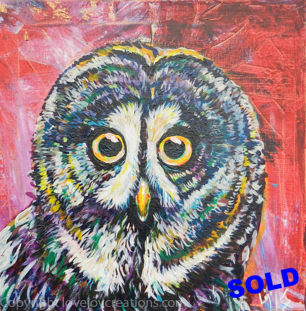 12x12 inches -Red Owl