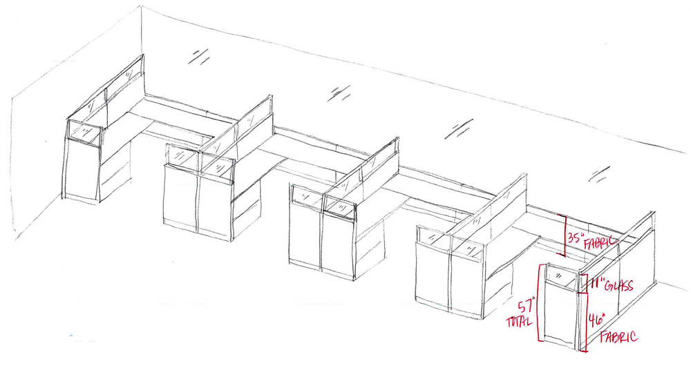 Cubicle rough sketch