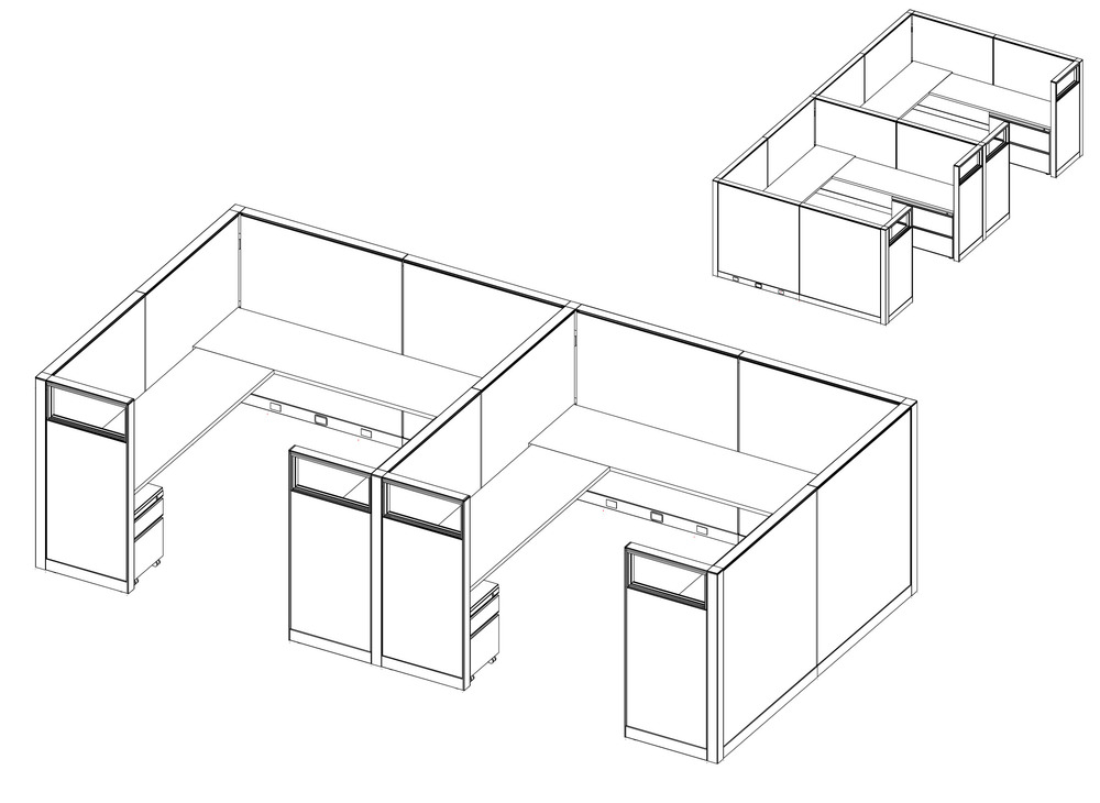 8' X 8' Typical Cubicles