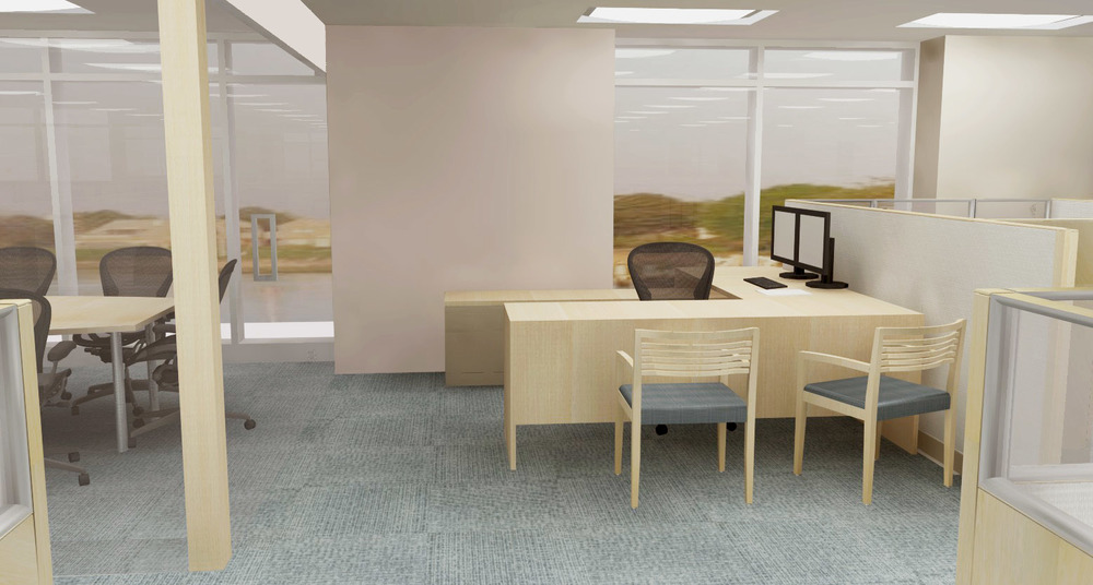 Executive cubicle. Rendering