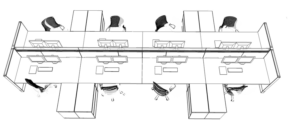 Trader desk layout