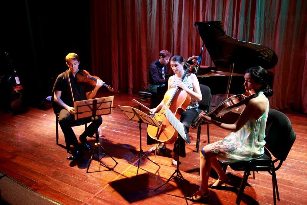 Schumann Piano Quartet performs at the Felipe Carrillo Puerto Theatre