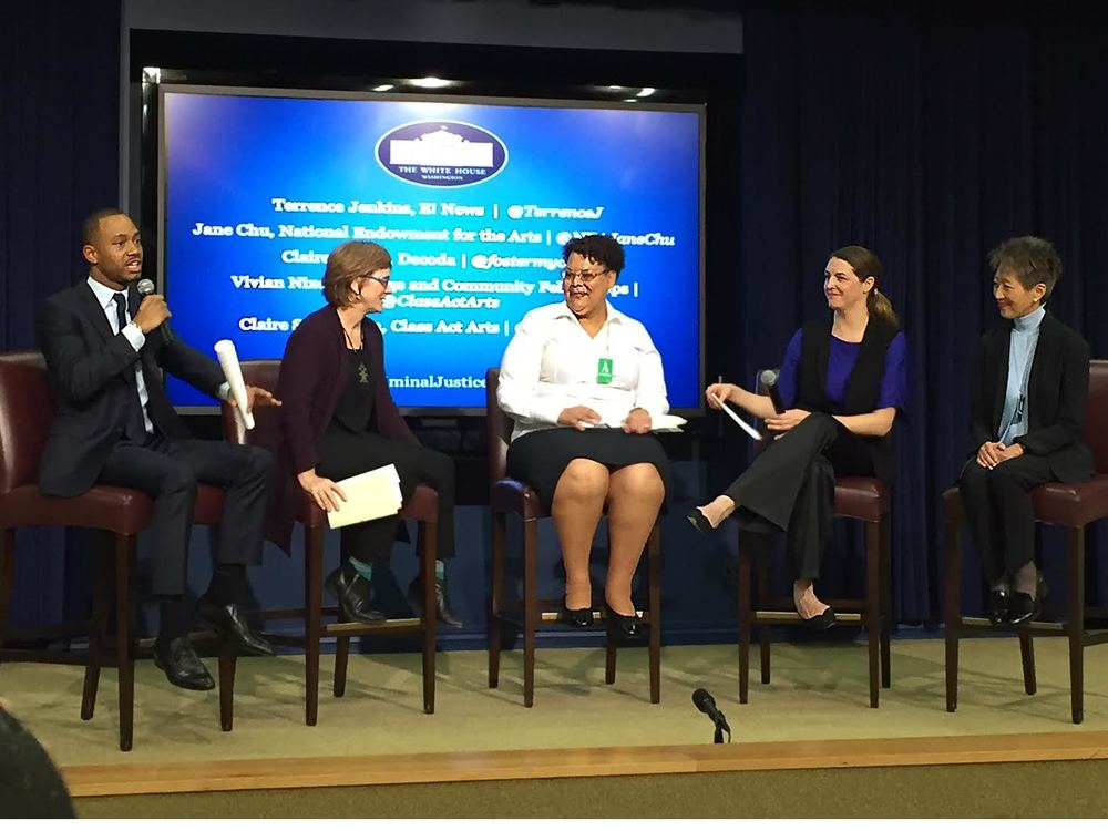 Terrence Jenkins, Claire Schwadron, Vivian Nixon, Claire Bryant, and Jane Chu