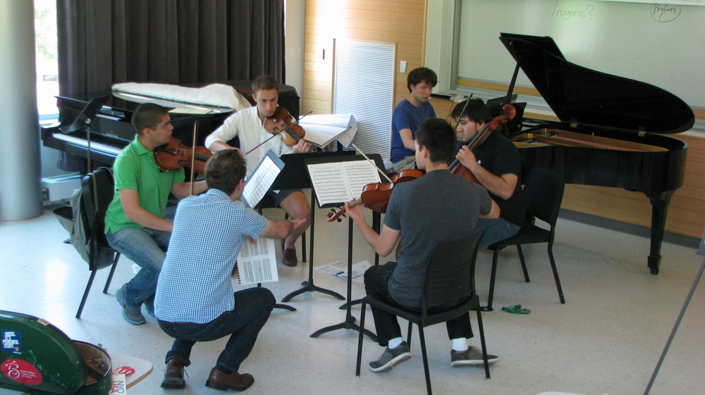 "Michael Mizrahi  coaching Dvorak Piano Quintet - ""a subito  p  perhaps?"""
