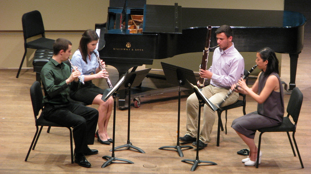 Decoda|Skidmore Chamber Music Institute, 2015 - Festival participants perform Villa-Lobos Woodwind Quartet with faculty member,  Alicia Lee .