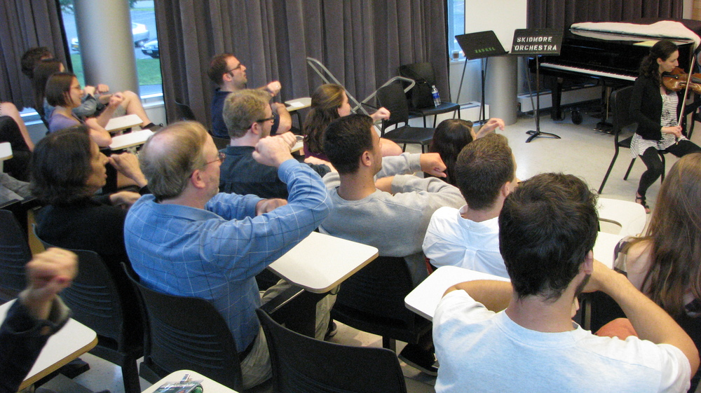 Decoda|Skidmore Chamber Music Institute, 2015 - Students participating in an interactive performance seminar.