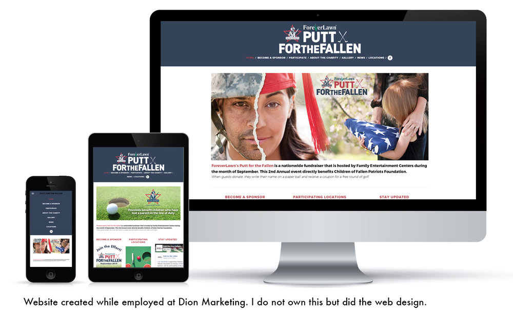Website created while employed at  Dion Marketing . I do not own this but did the web design.
