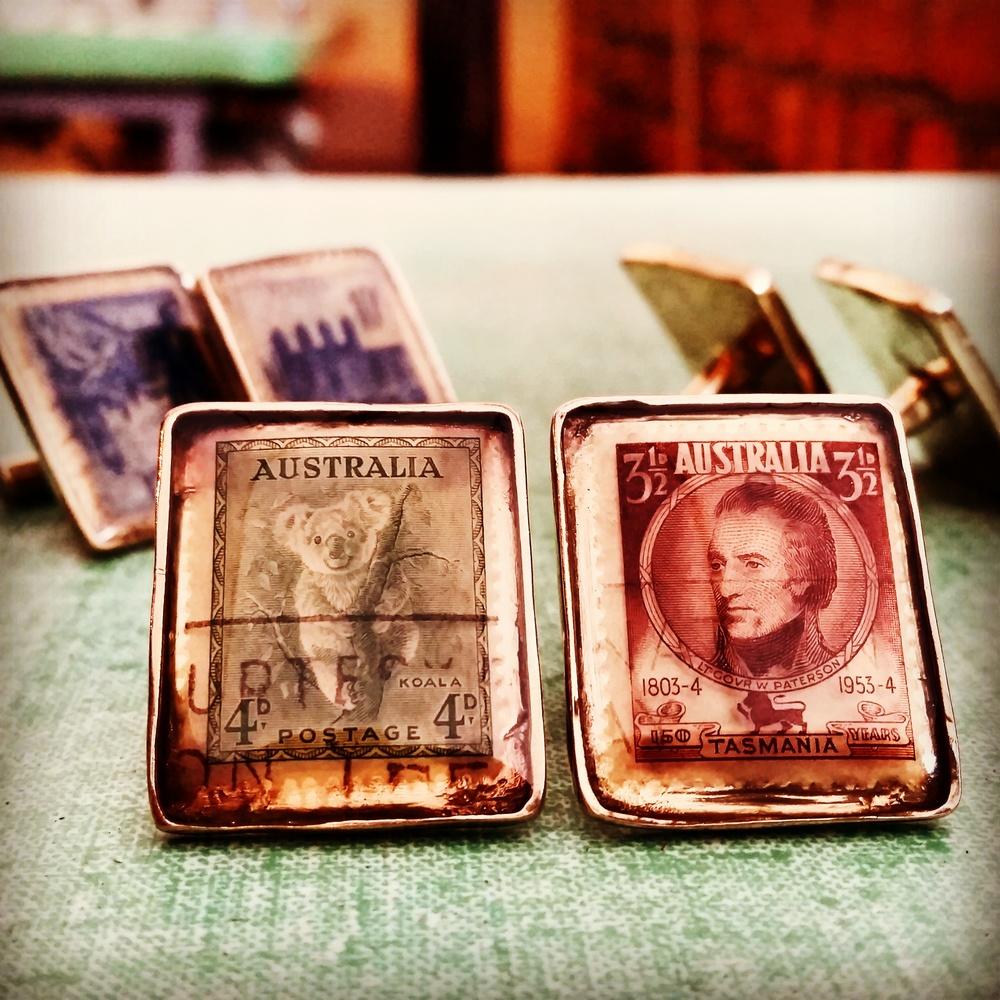 Stamp cufflinks Australia.jpg
