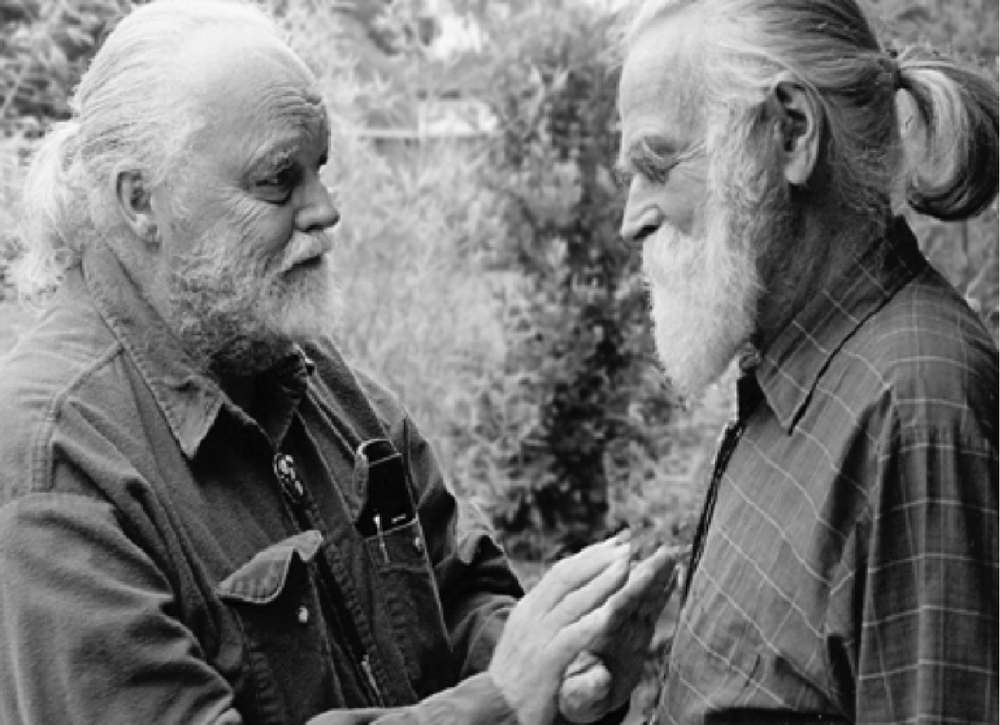 Lou Harrison with his life partner Bill Colvig. Photo source unknown