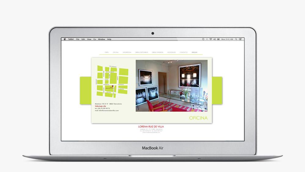 Website Lorena Ruiz de Villa