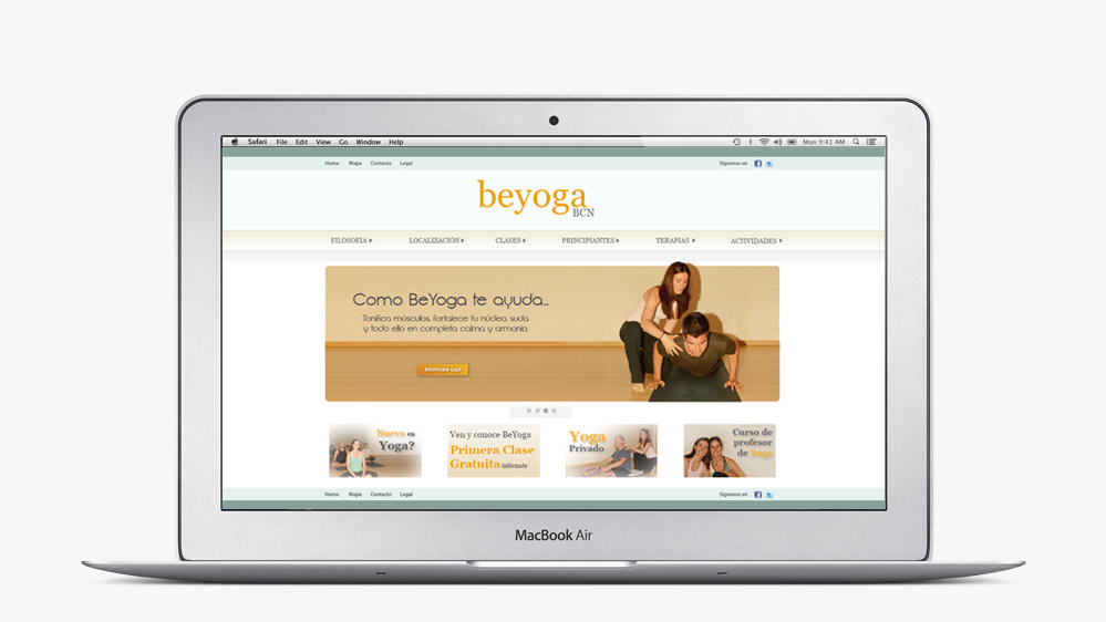 Website Be Yoga Barcelona