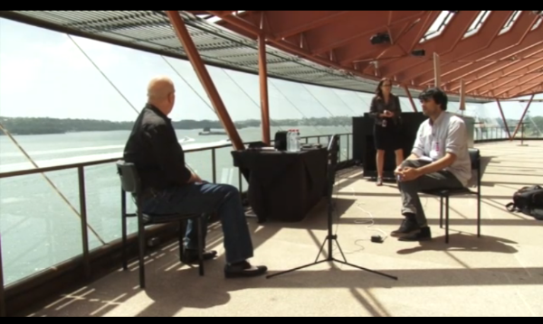 Establishing Wide Shot with Interviewer