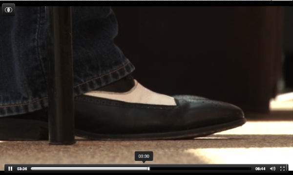 Detail Shot of David Simon's Shoe