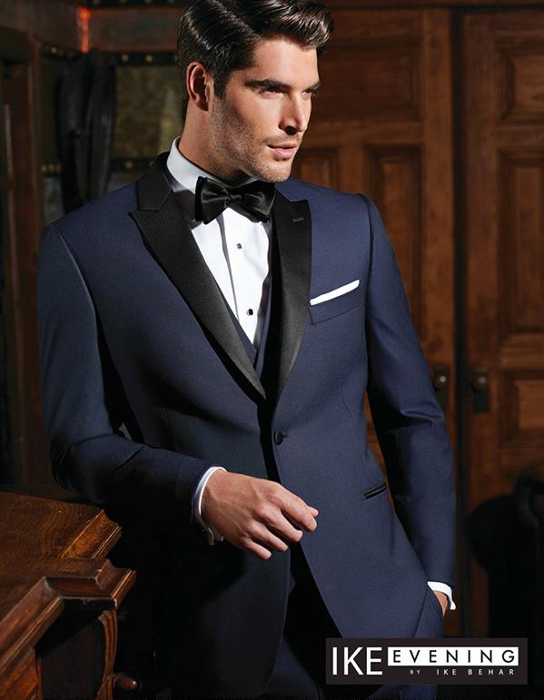 Blue Blake Tuxedo Peak Lapel by Ike Behar® — Tommy\'s Tuxedos®