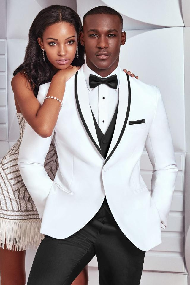 ULTRA SLIM WHITE WAVERLY — Tommy\'s Tuxedos®