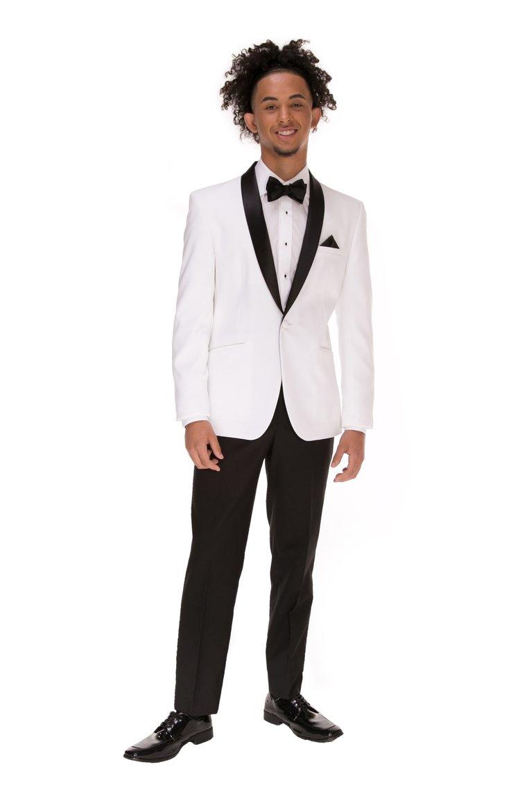 WHITE CLAYTON TUXEDO — Tommy\'s Tuxedos®