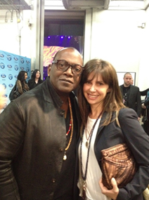 Olya Kislin and Randy Jackson wearing Figaru necklace