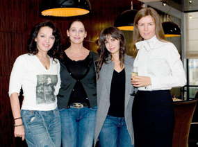 In Vladivastok with actress Ladlena Belabrova and Editor-in-Chief Of Fashion Collection magazine, Marina Demechenko