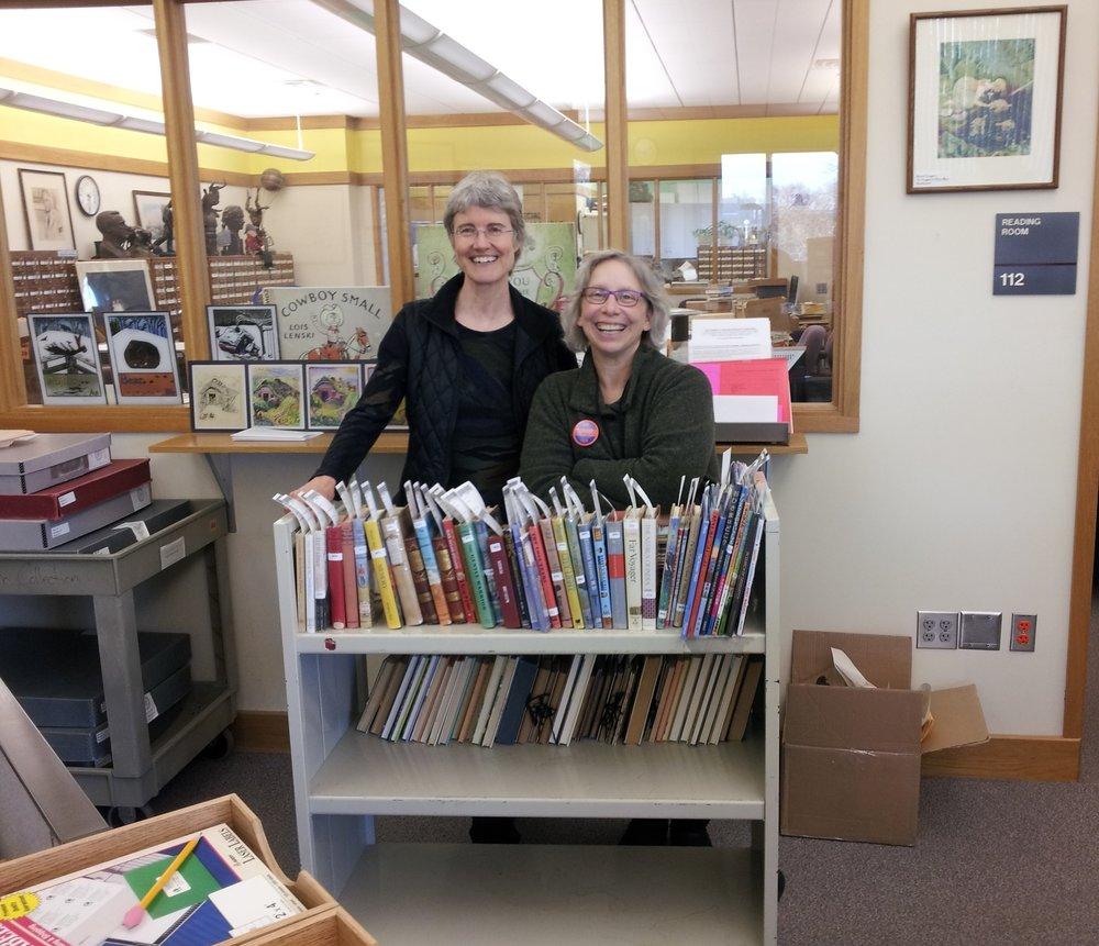 Elizabeth Partridge - Kerlan Library with Lisa Von Drasek 2013.jpg