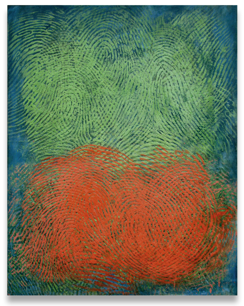 Soma in Green and Orange, 2011