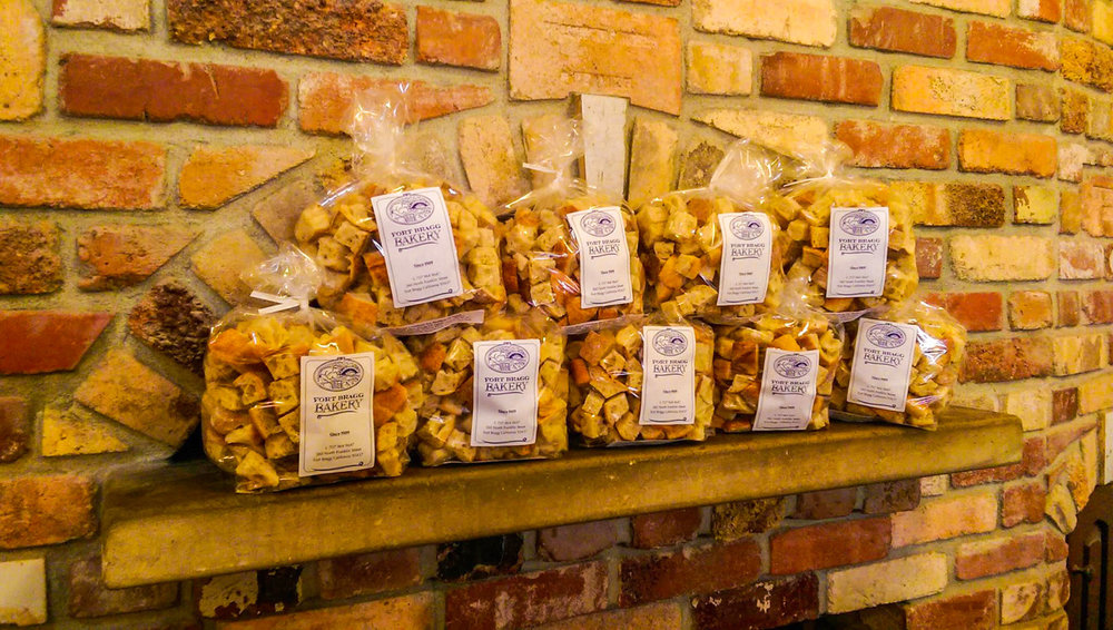 Fort Bragg bakery croutons