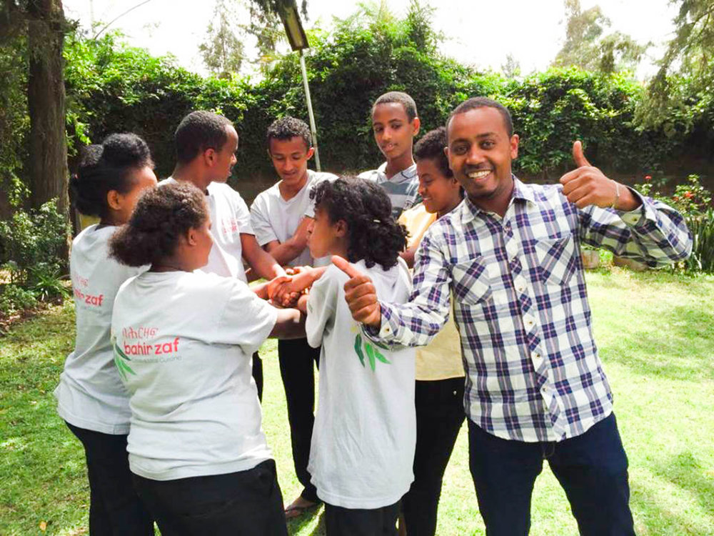 Heyi working with at-risk young people through Friends International