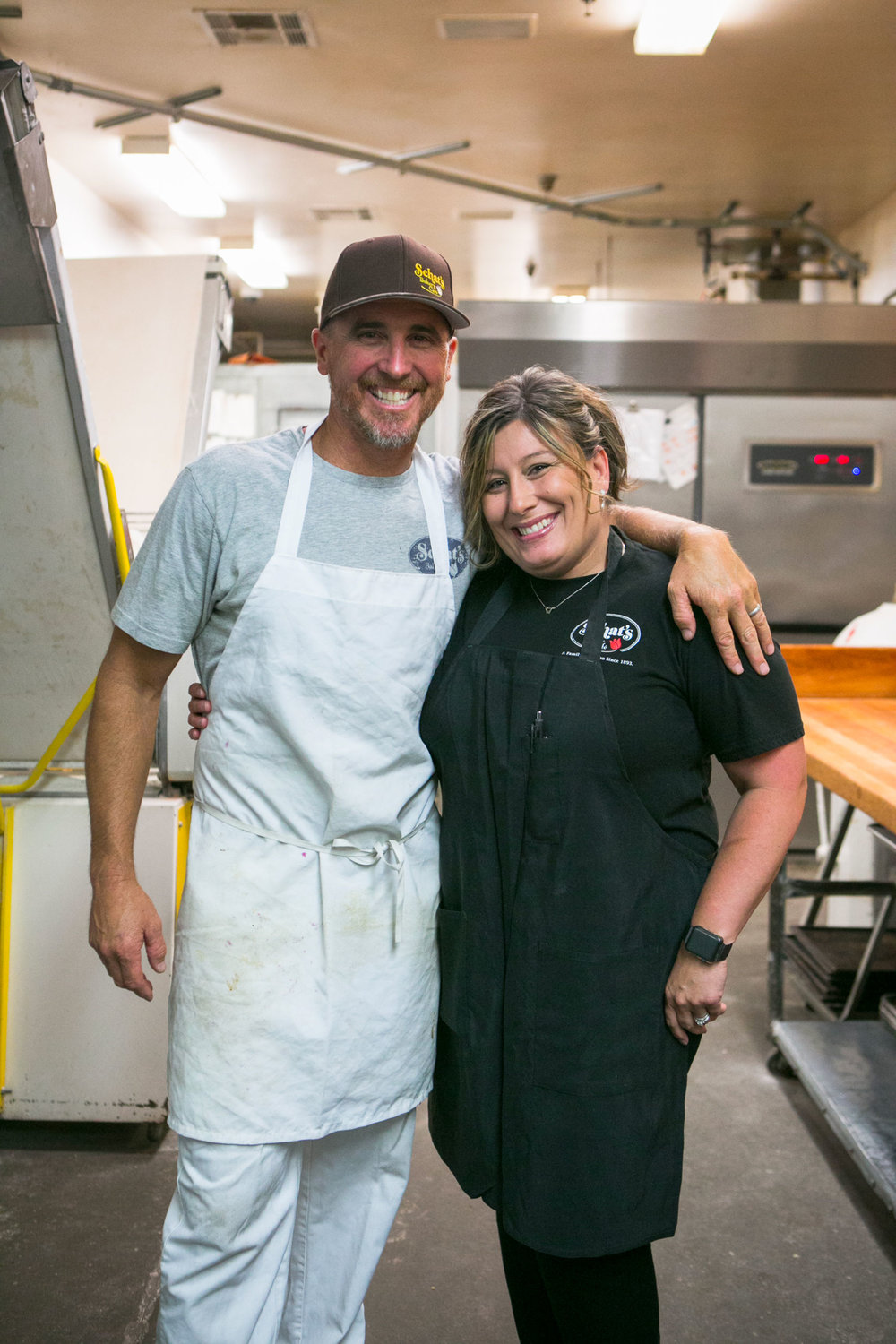 Zach Schat and Lisa Hensley, Operation Manager of all three shops and employee of 19 years.