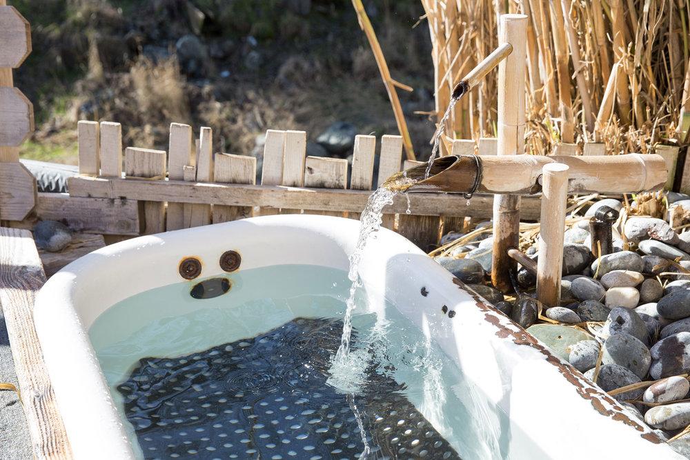 an outdoor tub at Wilbur Hot Springs