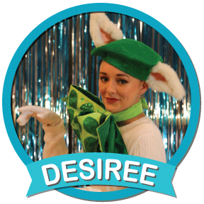 Desiree A sassy pampered cat; self-centered but a softie underneath her sleek, cool exterior