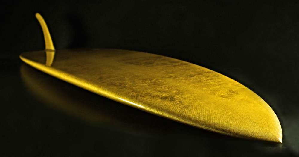 24 karat solid gold surfboard lux barrel