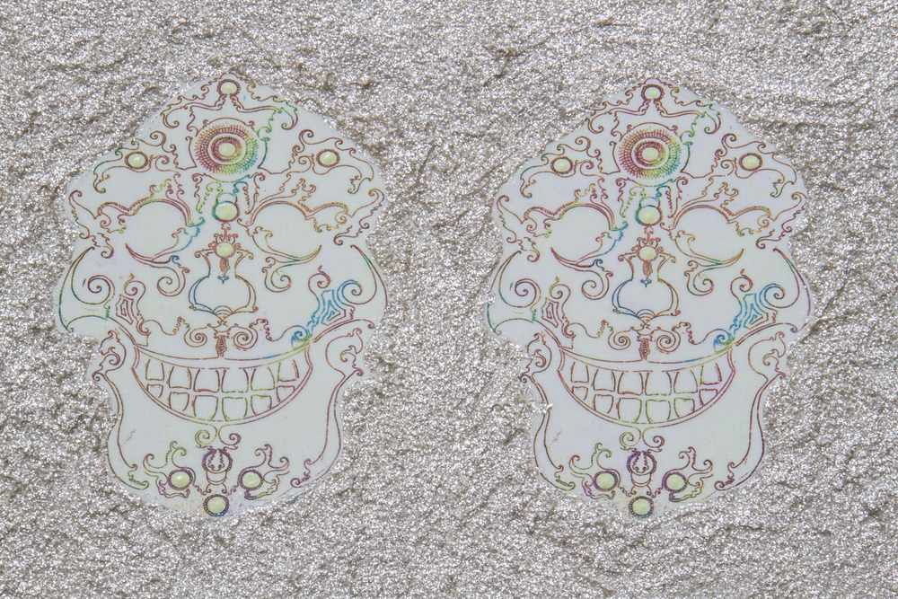 Detail of Untitled Pearl Skulls