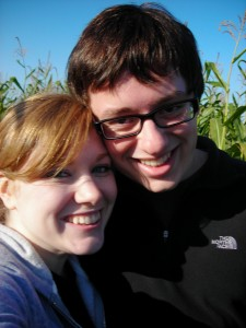 Last fall at the corn field maze.