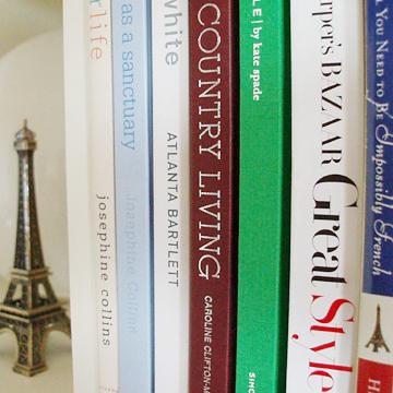 Bookshelf and a mini Eiffel Tower