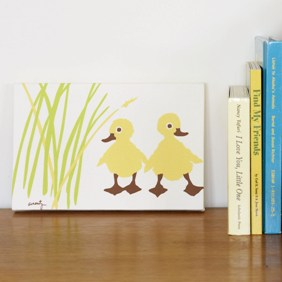 Duck print for nursery