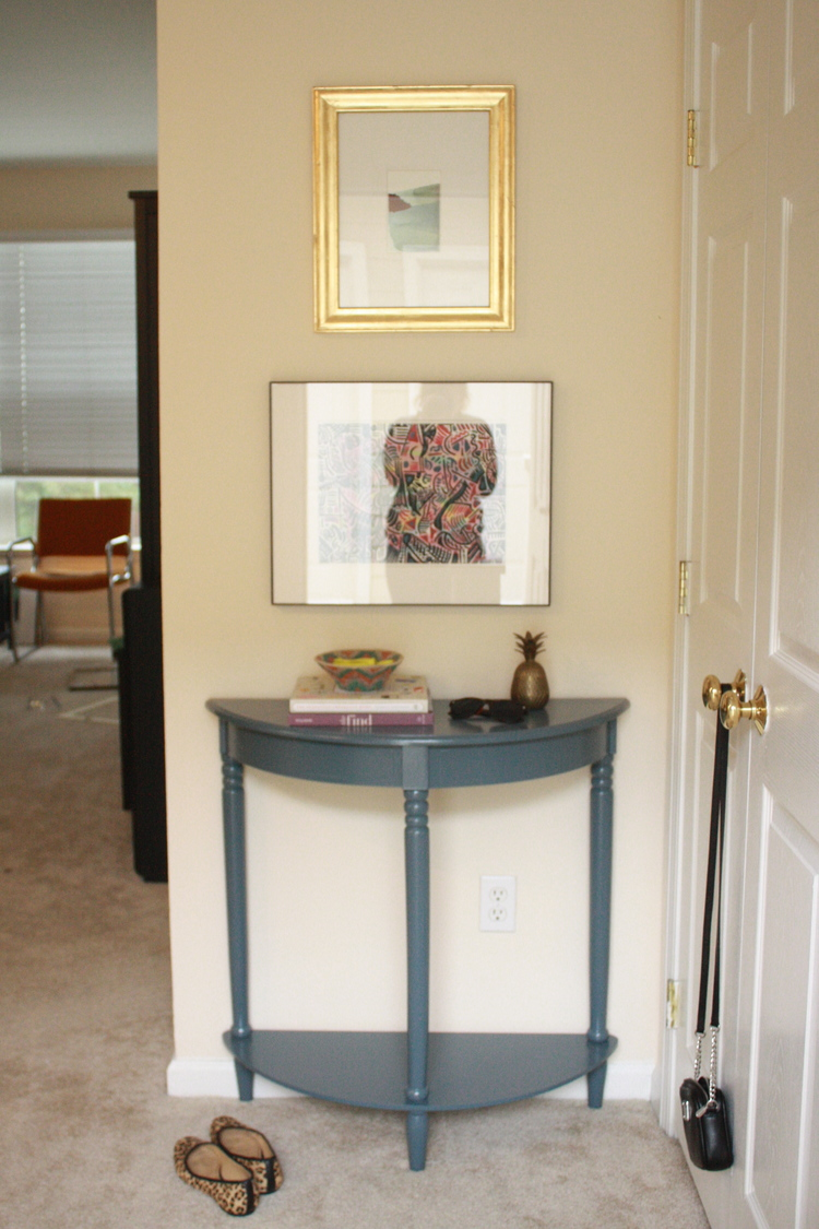 Entry Table Reveal Maggie Stephens Interiors