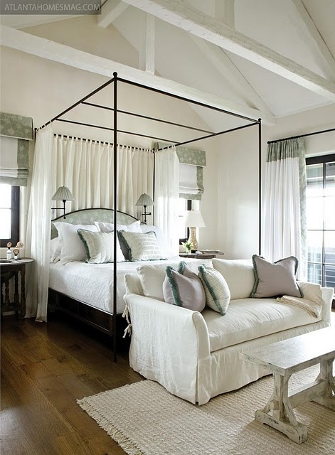 Mostly Italian canopy beds and then my interest wandered to just about any canopy bed with a thin black frame. & Trend: Iron Beds u2014 Maggie Stephens Interiors