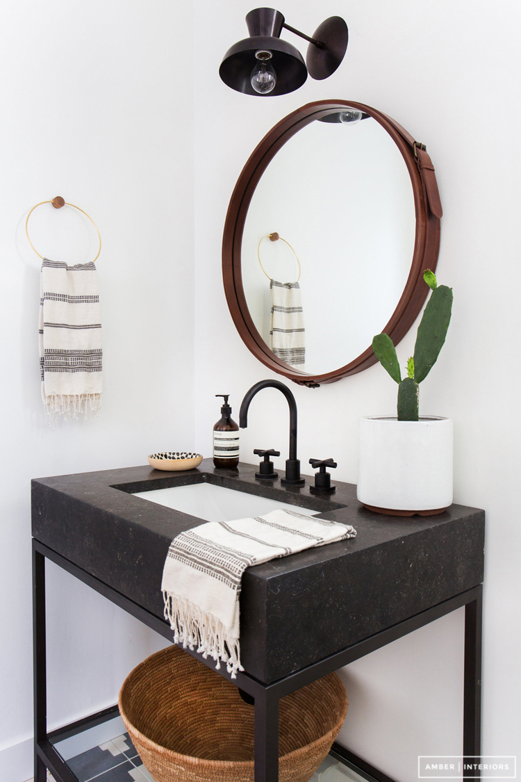 Trend Black Bath Fixtures Maggie Stephens Interiors - Black bathroom faucet fixtures