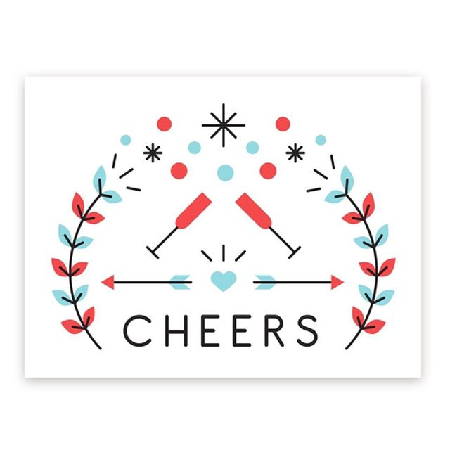 It's the freaking weekend. 🍾  #TGIF #cheers #champagne #bubbly #greetingcard #card #congrats #stationery #design #happyhour #happyhourandco