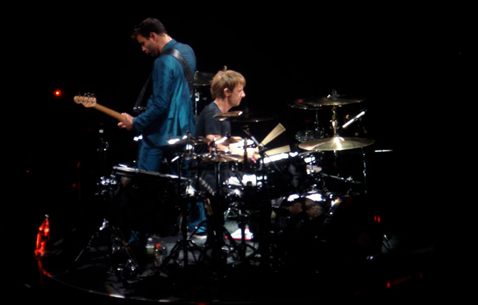 Dominic Howard & Christopher Wolstenholme of legendary rock band, Muse.