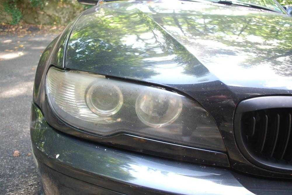 Headlights before restoration and coating