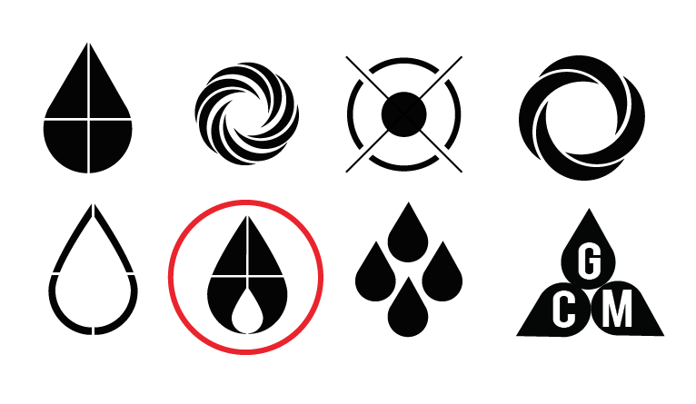 The Ink Drop icon was the best representation of print industry, and the obvious choice to represent the program.