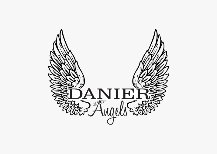 Danier Angels   This secondary logo was created for Danier Leather, which is used on all their promotional material for the  Heart & Stroke Foundation: Run for a Cure .