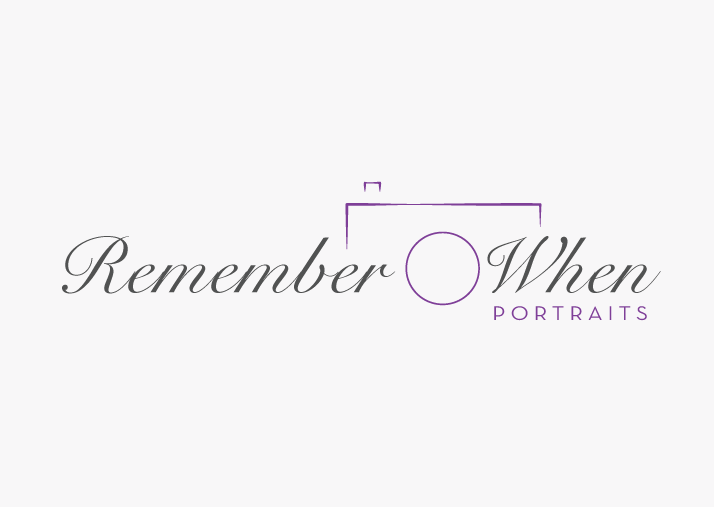 Remember When Portraits This logo was designed for a local photographer who specializes in wedding and communion photography with a traditional flare.