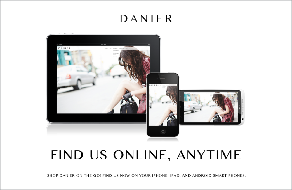 Promotional Online Danier Ad