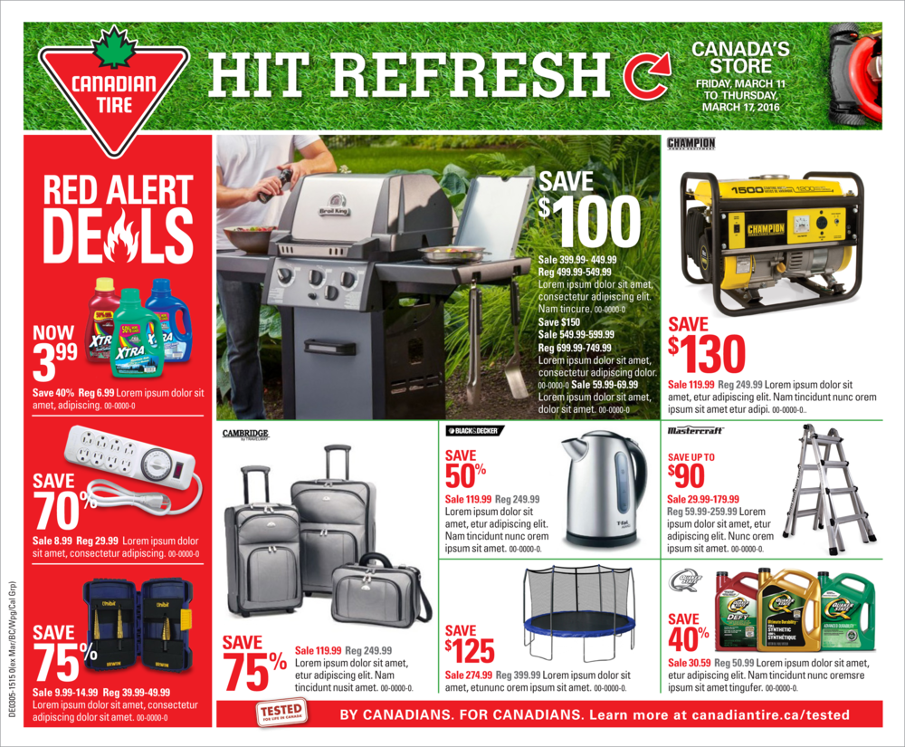 March 2015 Canadian tire Front Cover