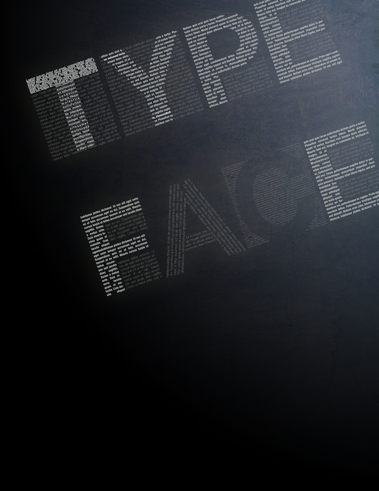 Poster Design Using Type + Texture Effects (Photoshop CS6)