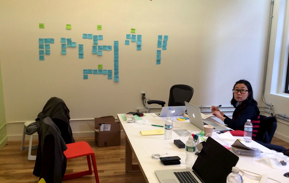 A picture from the brainstorming session. ideas were grouped by core game, meta game, content, social, UI improvements.
